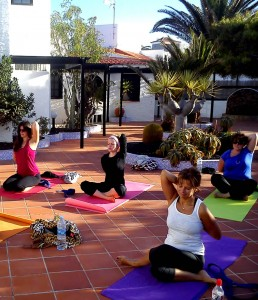 Yoga class with Sally Goldfinger