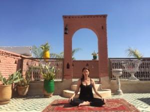 Yoga class Marrakech