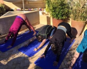 short yoga break Marrakech